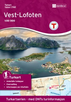 Wandelkaart Noorwegen/ Turkart Vest-Lofoten 1:50.000 (2016)
