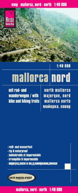 Wegenkaart Mallorca Nord 1:40.000  3.A 2014
