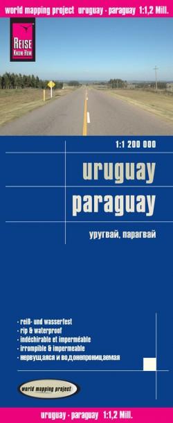 Landkaart Uruguay/Paraguay 1:1,2m. 2.A 2016