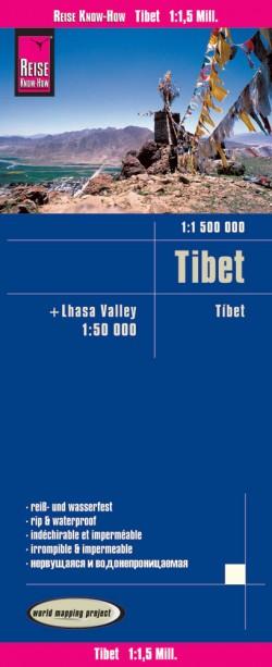 Landkaart Tibet 1:1 500.000 / Lhasa Valley 1:50 000 5.A 2017