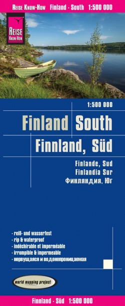 Wegenkaart Finland South 1:500.000 1.A 2017