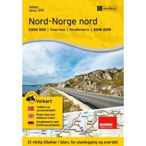 Wegenkaart-Straßenkart-Roadmap-Veikart Nord-Norge nord 1:500.000 2018-2019