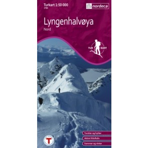 Wandelkaart Turkart Lyngenhalvøya Nord 1:50.000 (2011)