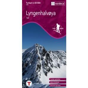 Wandelkaart Turkart Lyngenhalvøya Sør 1:50.000 (2011)