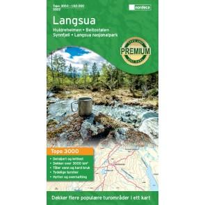 Wandelkaart Topo 3000 Langsua 1:50.000 (2017)