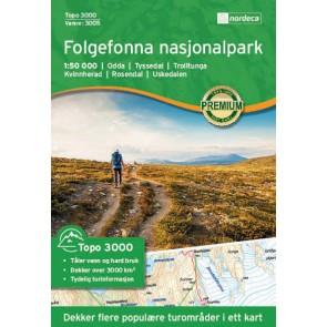 Wandelkaart Topo 3000 Folgefonna nasjonalpark 1:50.000 (2017)