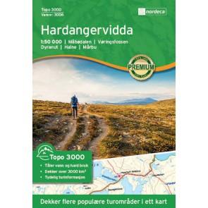 Wandelkaart Topo 3000 Hardangervidda 1:50.000 (2017)