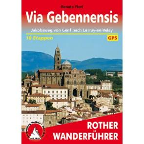 Wandelgids Via Gebennensis - Jakobsweg von Genf nach Le Puy 50 Etappen (1.A 2016)
