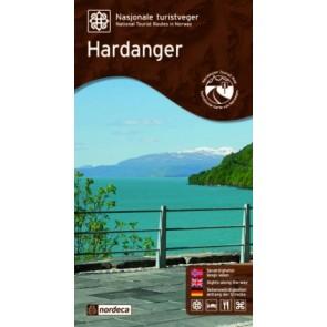 Toeristische Wegenkaart Hardanger 1:75.000