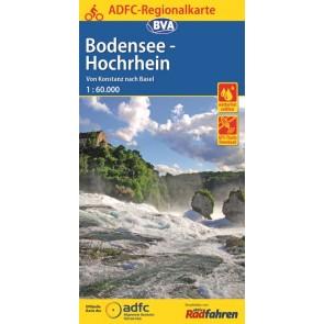 BVA-ADFC Regionalkarte Bodensee/Hochrhein 1:75.000 (1.A 2016)