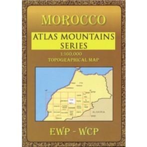 Wandelkaart Toubkal Massif Morocco 1:160.000