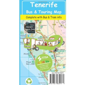 Toeristenkaart Tenerife Bus & Touring Map 1:25.000 (2015)