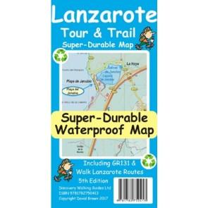 Wandelkaart Lanzarote 1:40.000 Tour & Trail Map 5th. ed. 2017