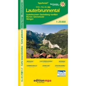 TopoRando Lauterbrunnental 1:25.000