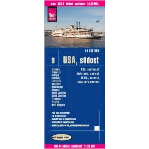 Wegenkaart USA-9 Südost 1:1 250 000 2.A 2014