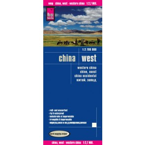 Wegenkaart West China 1:2.700.000 2014 3.A