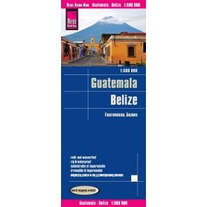 Wegenkaart Guatemala - Belize 1:500.000 5.A 2018