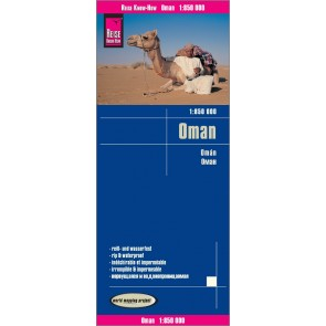 Wegenkaart Oman 1:850.000 9.A 2018