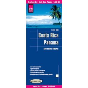 Landkaart Costa Rica/Panama 1:550.000 10.A 2017