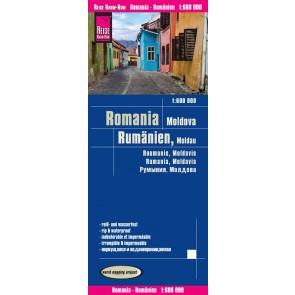 Landkaart Romania/Rumänien/Moldavien 1:600.000  8.A 2017