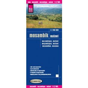 Wegenkaart Mocambique/Malawi 1:1 200T  4.A 2016