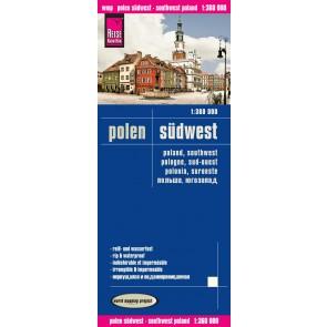 Wegenkaart Polen Zuidwest 1:360.000 1.A 2016