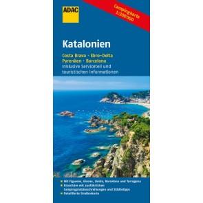 ADAC Campingkarte Katalonien 1:300.000