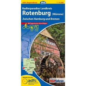 Fietskaart BVA-ADFC Regionalkarte Rothenburg (Wümme) 1:75.000 (plast 2015)