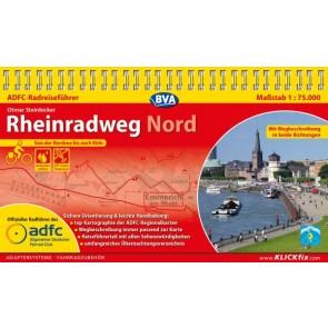 Fietsgids Rheinradweg Nord 1:75.000