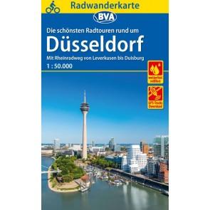 BVA Fietskaart Düsseldorf en omgeving 1:50.000