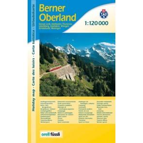 Urlaubskarte Berner Oberland 1:120.000