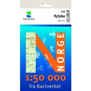 Wandelkaart Noorwegen 1:50.000 Ryfylke (018) 2012