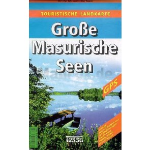 Toeristenkaart Grosse Masurische Seen (Polen) 1:50.000