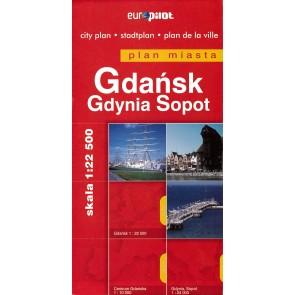 Stadsplattegrond Gdańsk/Gdynia Sopot 1:22.500