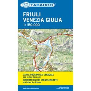 Friuli Venezia Giulia auto/fietskaart 1:150.000