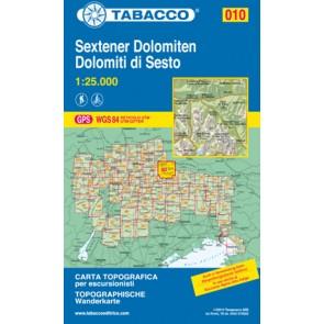 Wandelkaart Dolomiten Blad 010- Sextener Dolomiten / Dolomiti di Sesto (GPS)