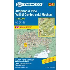 Wandel- fietskaart Altopiano di Pinè  Blad 062 / 1:25.000 (GPS)