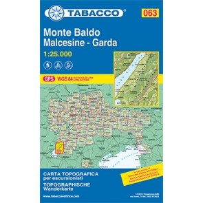 Wandel- fietskaart Monte Baldo Malcesine - Garda  Blad 063 / 1:25.000 (GPS)