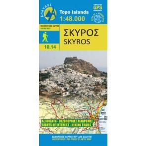 Wegenkaart Topo Islands Skyros 1:48.000 (10.14)