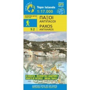 Wegenkaart Topo Islands Paxos/Antipaxos 1:17.000 (9.2)