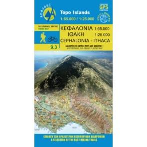 Wandelkaart Topo Islands Kefalonia-Ithaca 1:65.000/1:25.000 (9.3)