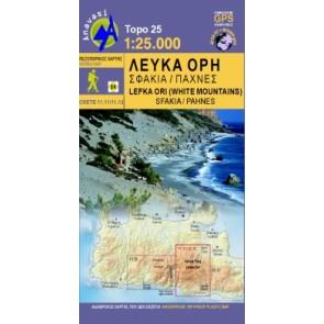 Wandelkaart Topo 25 Kreta Lefka Ori-Sfakia - Pahnes 1:25.000 (11.11 - 11.12)