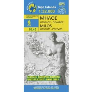 Topo Islands Milos Kimolos-Polyvos 1:32.000 (10.45)