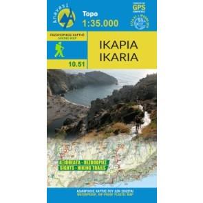 Toeristenkaart Topo Islands Ikaria 1:35.000 (10.51)
