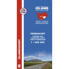 Wegenkaart/Touring Map Iceland 1:600.000