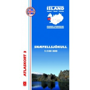 IJslandkaart Atlaskort 3 - Snæfellsjökull 1:100.000