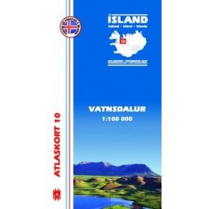 IJslandkaart Atlaskort 10 - Vatnsdalur 1:100.000
