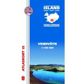 Topografische Kaart IJsland Atlaskort 16 - Höfsjökull 1:100.000