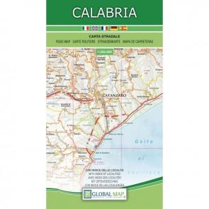 Wegenkaart Calabria 1:250.000
