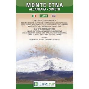 Wandelkaart Parco del Monte Etna - Alcantara - Simeto  1:50.000 (TYVEK)